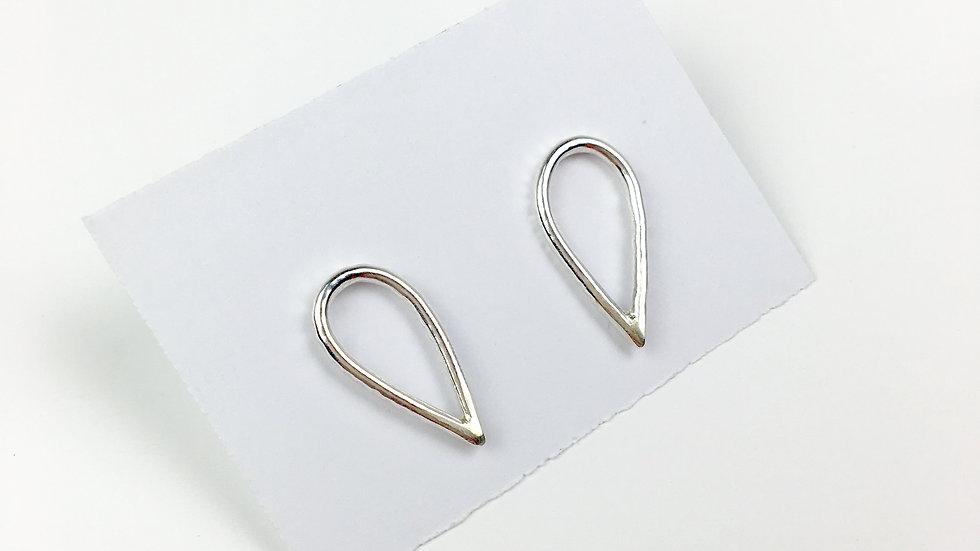 'Droplet' Sterling silver stud earrings