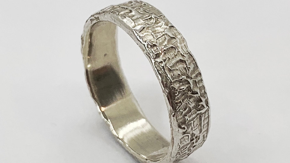 Carved Wide Stacker Ring