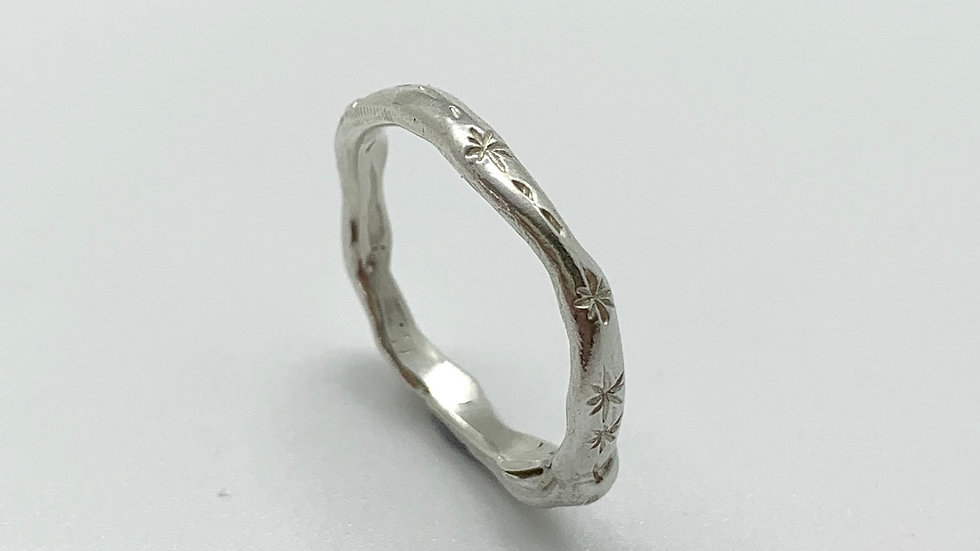 """""""Astral"""" Silver Stacking Ring"""