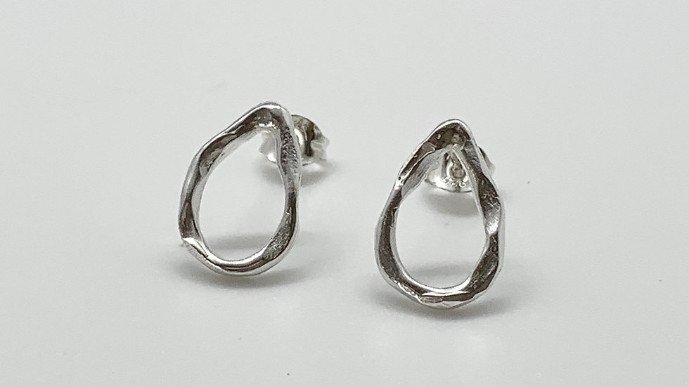 Freeform Tear Drop Small Studs