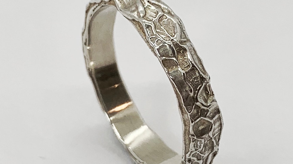 Carved Medium Stacker Ring