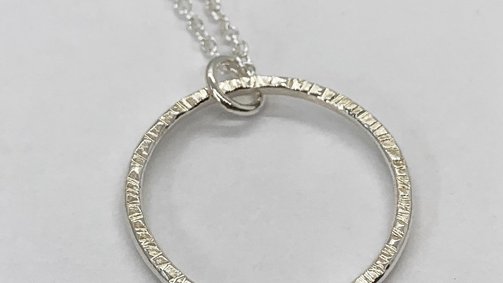 """""""Facet"""" Hammered Large Infinity Pendant"""