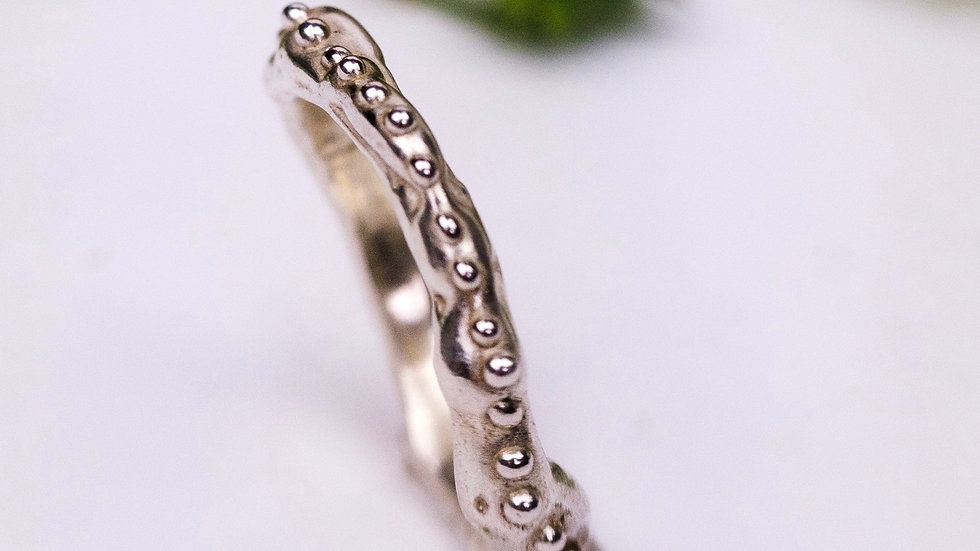 Freeform Chunky Granulated Ring