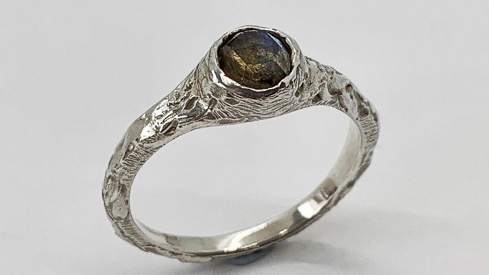 Carved Labradorite Ring