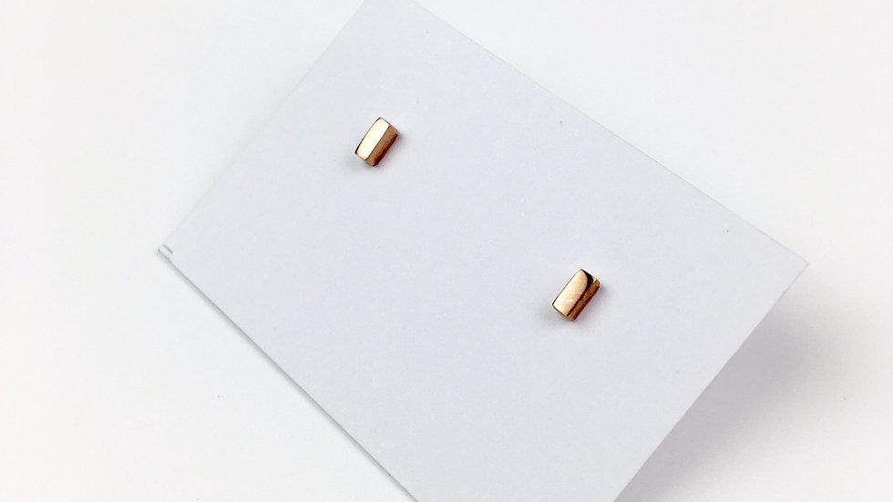 9ct Rose Gold 'Bar' Stud earrings
