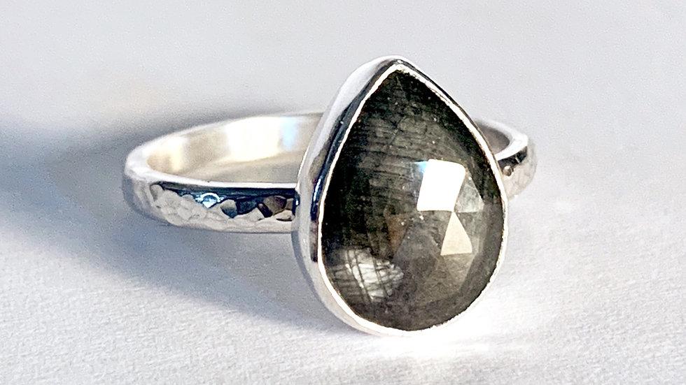 """""""Telesto"""" Silver Sapphire Ring"""