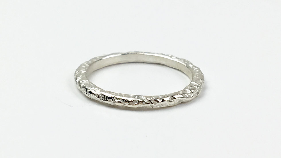 Hand carved Stacking ring