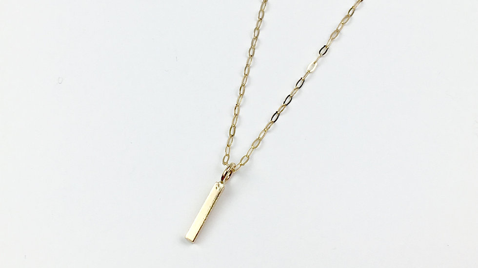 9ct Yellow Gold 'Bar' Necklace