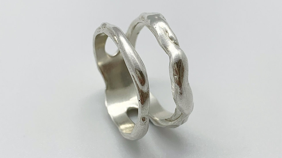 Double row Silver Ring
