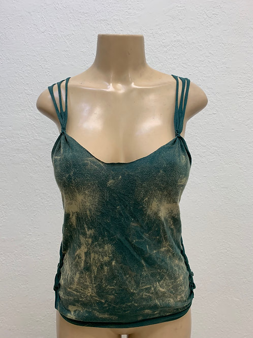 Green Acid Wash Tank Top