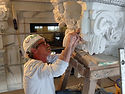 Master carver Mark Wickstrom carving a c