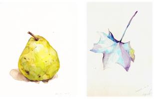 A Pear & A Winter Leaf