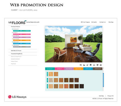 Web Promotion Design <LG Floors>