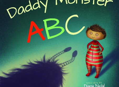 FREE Printable Colouring Page from new book 'Daddy Monster ABC'