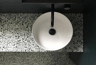 plan vasque terrazzo,plaque terrazzo,plaue granito,granito salle de bain