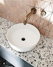 plan vasque en terrazzo,plan vasque marbre,vasque,terrazzo,granito,plan vasqe terrazzo paris