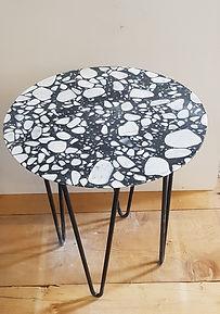 table d'appoit terrazzo,table basse marbre,granito,terazzo,