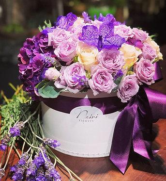 Flower-box (L) Violet Mix