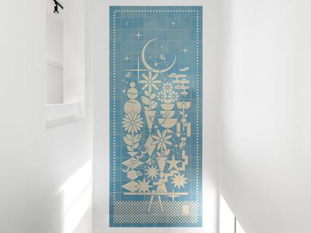 Screen printed ceramic tiles for Hotel TLVshort
