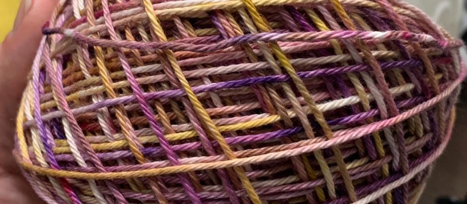 Cabana Cardi Testing with TL Yarn Crafts