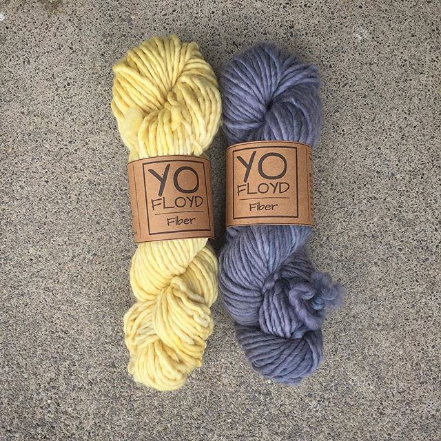 superbulky yellow and blue skeins