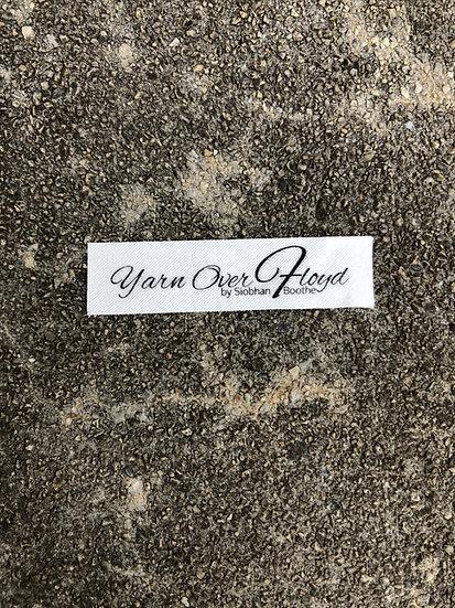 Yarn Over Floyd Script Logo Sew In Tag