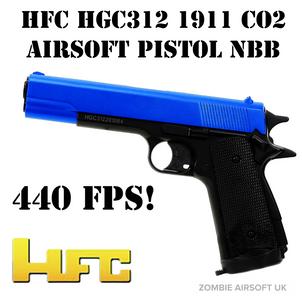 HFC HHGC312 1911 CO2 AIRSOFT PISTOL NBB 440FPS
