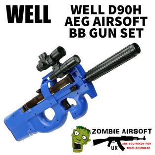 WELL D90H AEG AIRSOFT BB GUN SET