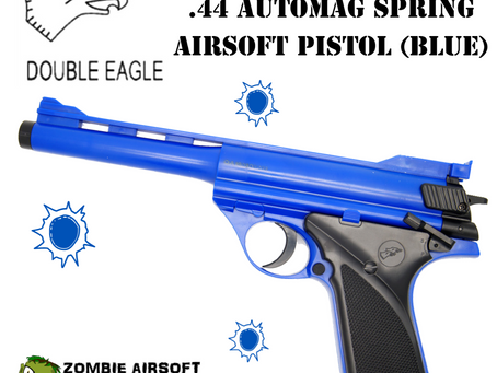 DOUBLE EAGLE M28F .44 AUTOMAG SPRING AIRSOFT PISTOL (Blue)