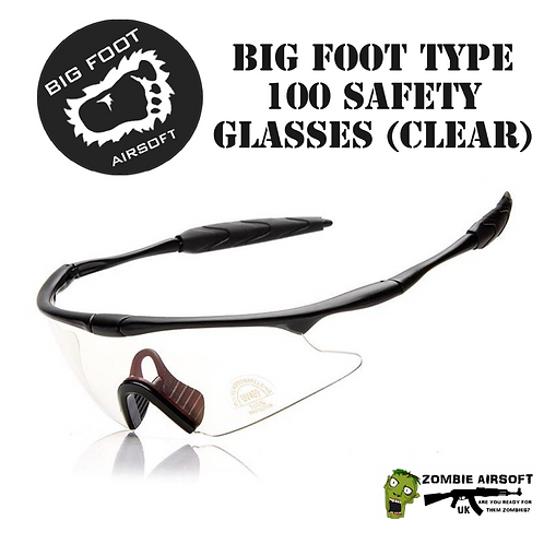 BIG FOOT TYPE 100 SAFETY GLASSES (CLEAR)