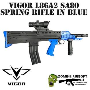 VIGOR L86A2 SA80 SPRING RIFLE IN BLUE