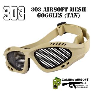 303 MESH AIRSOFT GOGGLES (TAN)