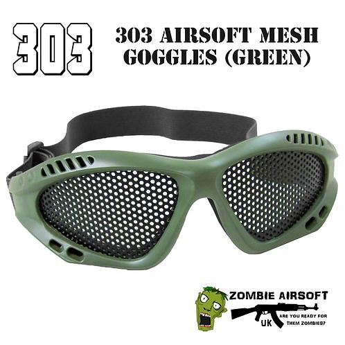303 AIRSOFT MESH GOGGLES (GREEN)