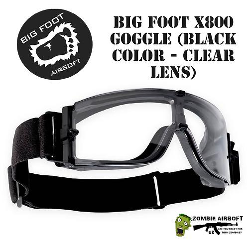 BIG FOOT X800 GOGGLE (BLACK COLOR - CLEAR LENS)