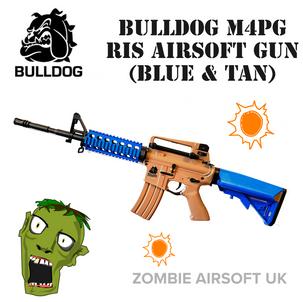 BULLDOG M4PG RIS AIRSOFT GUN (BLUE & TAN)