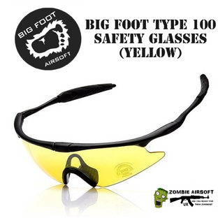 BIG FOOT AIRSOFT TYPE 100 SAFETY GLASSES (YELLOW)