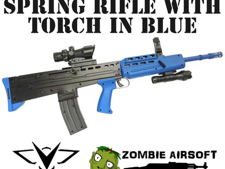 VIGOR L85A2 SA80 SPRING RIFLE WITH TORCH IN BLUE
