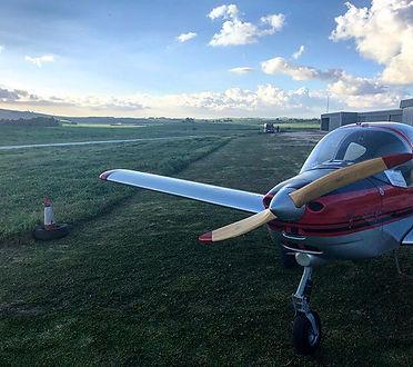 Tecnam p96 ready to fly in Aerosidonia .