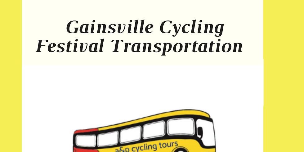 Gainsville Cycling Festival Transportation