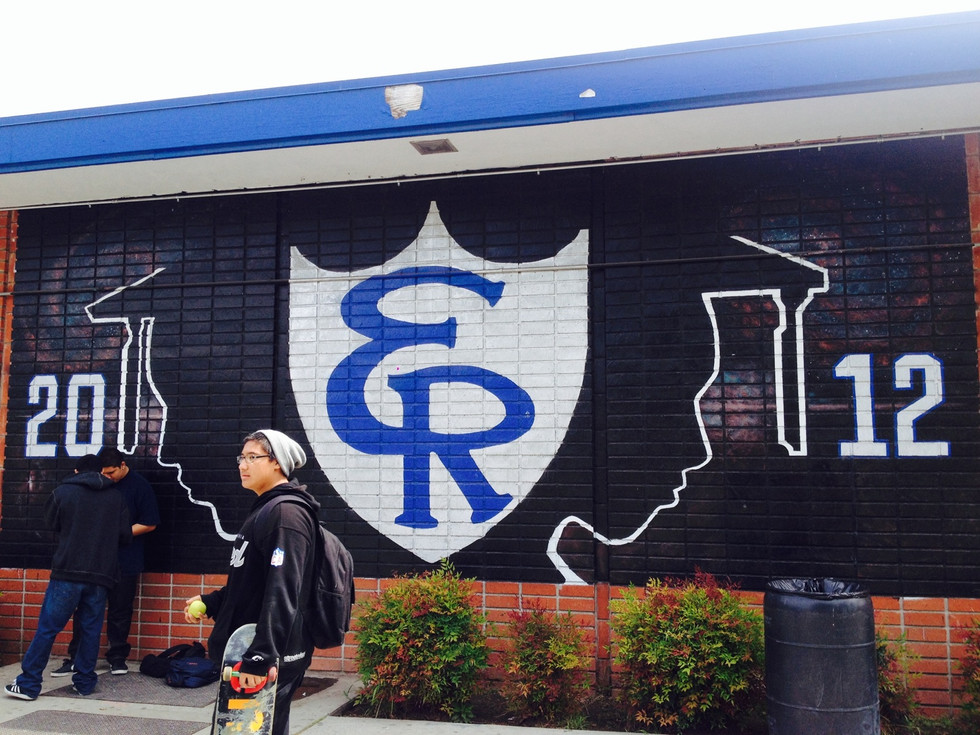 Mural at El Rancho High School, 2012
