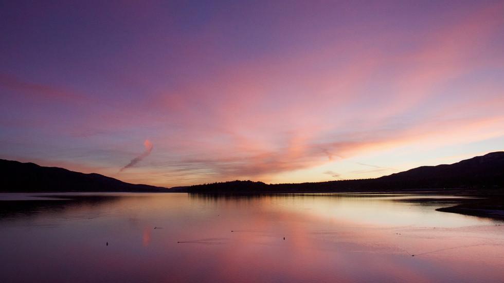 Sunrise at Big Bear Lake, CA (Photo: Lynette Haro)