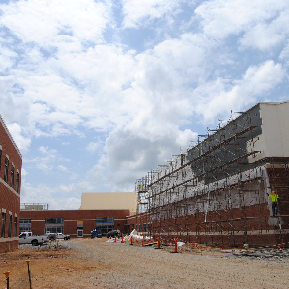 Construction on Spartanburg High School