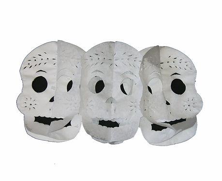 Pull-out Skulls- White