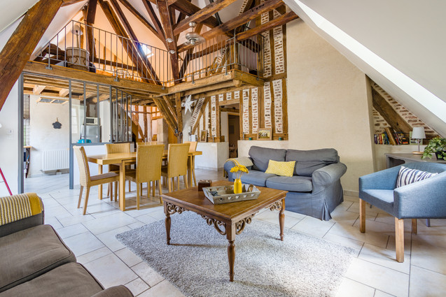 6 people apartment airbnb, hyper center of Amboise Loire Valley with view on the chateau castle, near Chenonceau and Chambord _living room 2