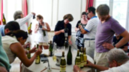 Assemblage de vin en Tourain