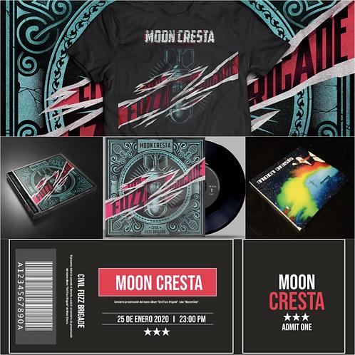"Pack ""Full Moon"": LP & CD(CFB)/""Moonary""(CD)/Entrada/Camiseta/Discografía dig."