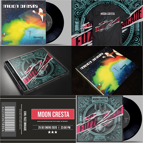 "Pack ""Plenilunio"": CFB & Moonary (LP/CD) + Cami + Ticket + FanPack + disco compl"