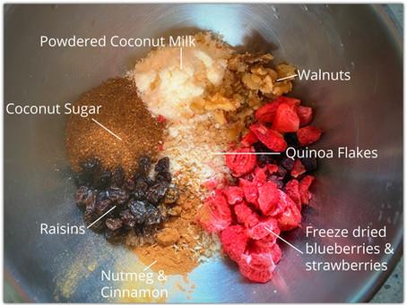 The Rumbly Tummy: Beary Tasty Quinoa Porridge #traillife