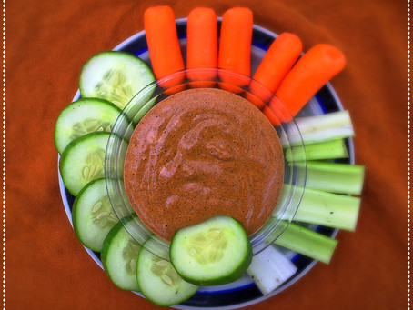 The Rumbly Tummy: Roasted Red Pepper Tahini Dip