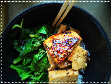 The Rumbly Tummy: Coconut Citrus Tofu & Spinach